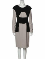 Thumbnail for your product : Roland Mouret Colorblock Pattern Knee-Length Dress Black