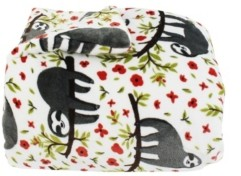 Thro Seth Sloth Flannel Fleece 3 Piece Full/Queen Comforter Set