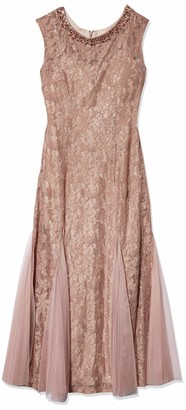 Alex Evenings Women's Long Cap Sleeve Fit n Flare Dress (Petite and Regular Sizes)