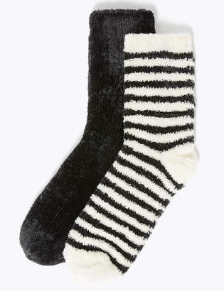 M&S CollectionMarks and Spencer 2 Pair Pack Cosy Bed Socks