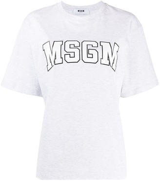 MSGM graphic logo-print T-shirt