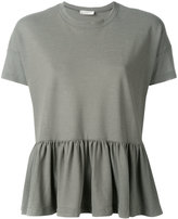 Zanone pleated hem T-shirt - women - Cotton - S