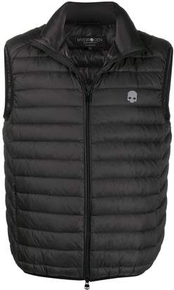 Hydrogen quilted shell gilet