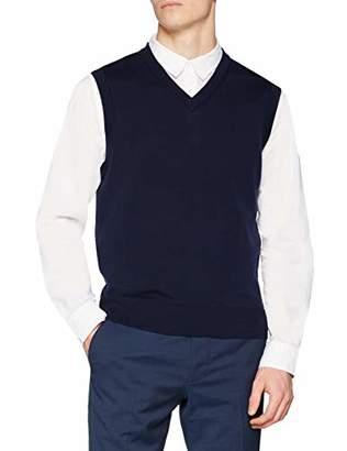 Brooks Brothers Men's Gilet in Merino Easy Care Blu Scuro Vest Top,X-Large