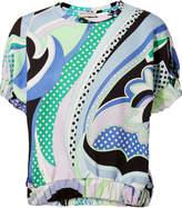 Emilio Pucci Puff Sleeve Swirl Print Blouse