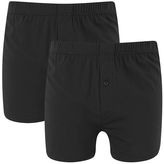 Wolsey Twin Pack Jersey Boxer Shorts Black