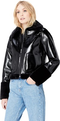 Find. Amazon Brand Women's Jacket in Vinyl and Faux Fur