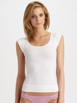 Spanx On Top And In Control Cap-Sleeve Top