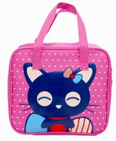 Black Temptation [Cat]Cute Lunch Tote Bag Reusable Lunch Bag For Kids/Students