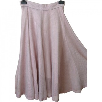 Maje Pink Cotton Skirt for Women