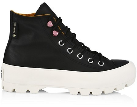 LJIEI Leather high-top Shoes Womens Autumn and Winter All-Match Thick-Soled White Shoes Plus Velvet Warm Old Sneakers