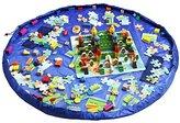 Homecube Large 59 Inches Diameter Baby Kids Play Floor Mat Toy Storage Bag Organizer Blue