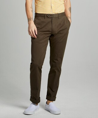 Todd Snyder Tab Front Chino Straight in Olive