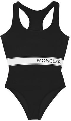 Moncler Logo Print One Piece Swimsuit