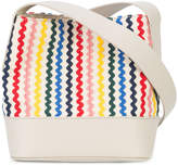 Loeffler Randall rainbow stripe bucket crossbody bag