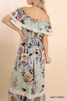 Umgee USA Floral Maxi Dress