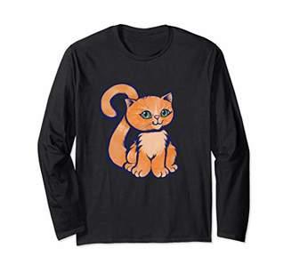 Caterpillar Orange Cat lovers design Long Sleeve T-Shirt