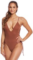 Blue Life Mermaid Lace Up One Piece Swimsuit 8144003
