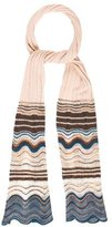 M Missoni Chevron-Patterned Knit Scarf