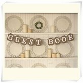 """BST Wedding Ceremony Wedding D ̈¦cor """" GUEST BOOK"""" Bunting Shabby Chic Rustic Banner Garlands"""