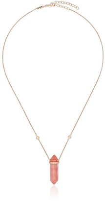 Jacquie Aiche 14kt rose gold strawberry diamond necklace