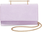 M2Malletier Alexia Suede And Leather Shoulder Bag - Lilac