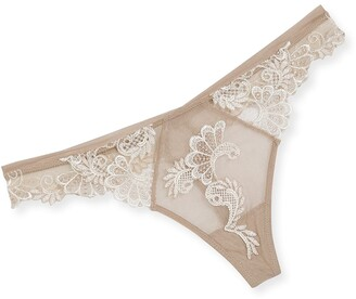 Lise Charmel Dressing Floral-Lace Thong