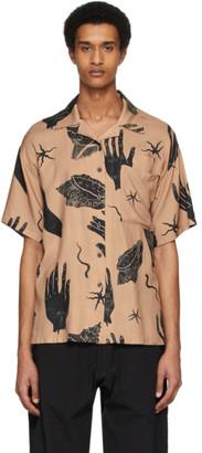 Acne Studios Pink Shell Print Short Sleeve Shirt