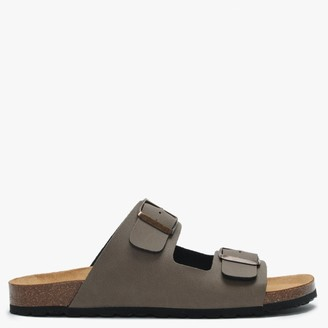 Daniel Mariz Taupe Two Strap Sandals