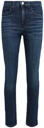 Veronica Beard Kate Tuxedo Stripe Skinny Jeans