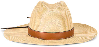 Loewe Paula Panama Hat in Natural & Tan | FWRD
