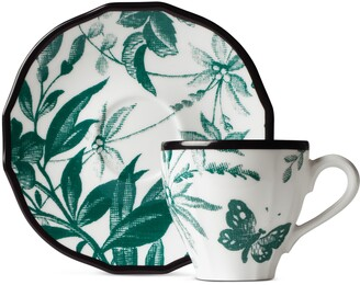 Gucci Herbarium coffee cup and saucer, double set