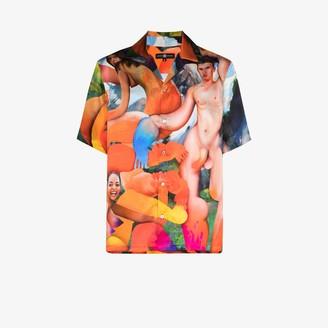 Edward Crutchley X Erik Jones Mason, Ayse, Jasmine print silk shirt