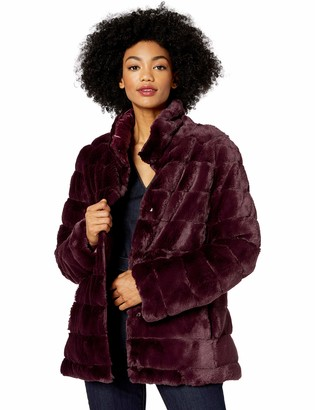 Kensie Women's Faux Fur Reversible Coat