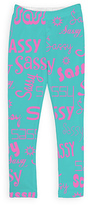 Urban Smalls Aqua & Pink 'Sassy' Leggings - Toddler & Girls