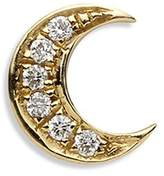 Loquet London Diamond 18k yellow gold 'Moon' charm - Hope