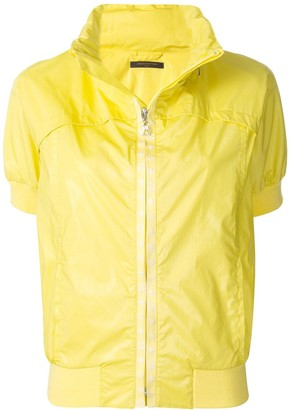 Louis Vuitton Pre Owned stand-up collar short-sleeved jacket