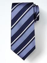Banana Republic Classic Stripe Silk Nanotex Tie
