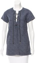 Derek Lam 10 Crosby Lace-Up Short Sleeve Tunic
