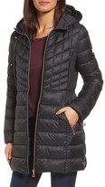 Bernardo Petite Women's Hooded Packable Down & Primaloft Coat