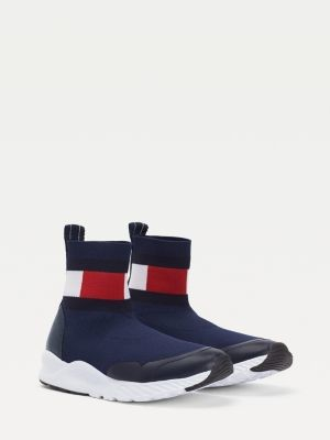 Tommy Hilfiger Knitted Flag Boot Trainers