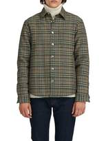 MSGM Fleece Wool Jacket In Plaid