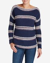 Eddie Bauer Women's Peakaboo Stripe Pullover Sweater