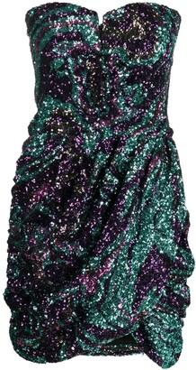 Amen Sequin-Embellished Fitted Dress