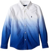 Polo Ralph Lauren Long Sleeve Oxford Dip-Dye Top (Little Kids/Big Kids)