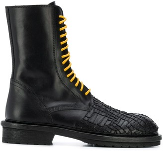Ann Demeulemeester Embroidered Ankle Boots