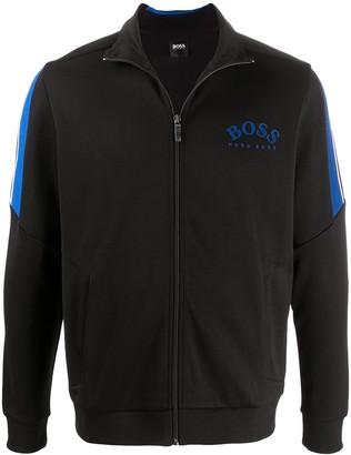 HUGO BOSS Long-Sleeved Zipped Up Sweater