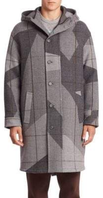 Erik Hart Camo Hooded Virgin Wool-Blend Coat