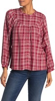 Madewell Plaid Balloon Sleeve Top