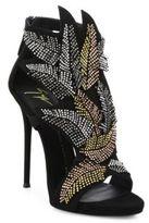 Giuseppe Zanotti Beaded Laser-Cut Suede Sandals
